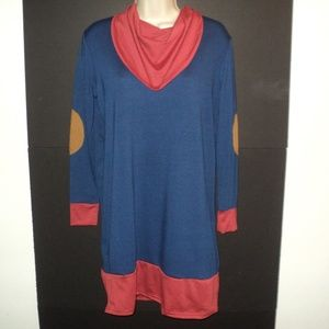 NEW Zesica Dress Size S Navy Blue Long Sleeves